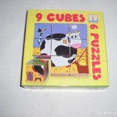 Juegos educativos: 9 CUBOS VACA JUEGO EDUCATIVO GRAN CALIDAD DJECO - ARTICULO NUEVO. Lote 126061367