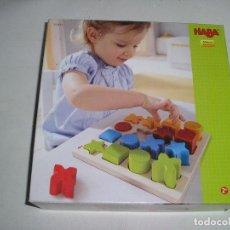 Juegos educativos: JUEGO MADERA MONTAJE FIGURAS GEOMETRICAS NABA - PERFECTO ESTADO. Lote 126061655
