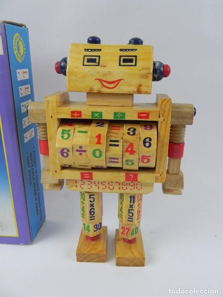 Juegos educativos: ANTIGUO ROBOT LEARN COUNT DE EDUCATION WOODEN TOYS, PARA APRENDER A CONTAR Y A REALIZAR OPERACIONES, - Foto 2 - 127273223