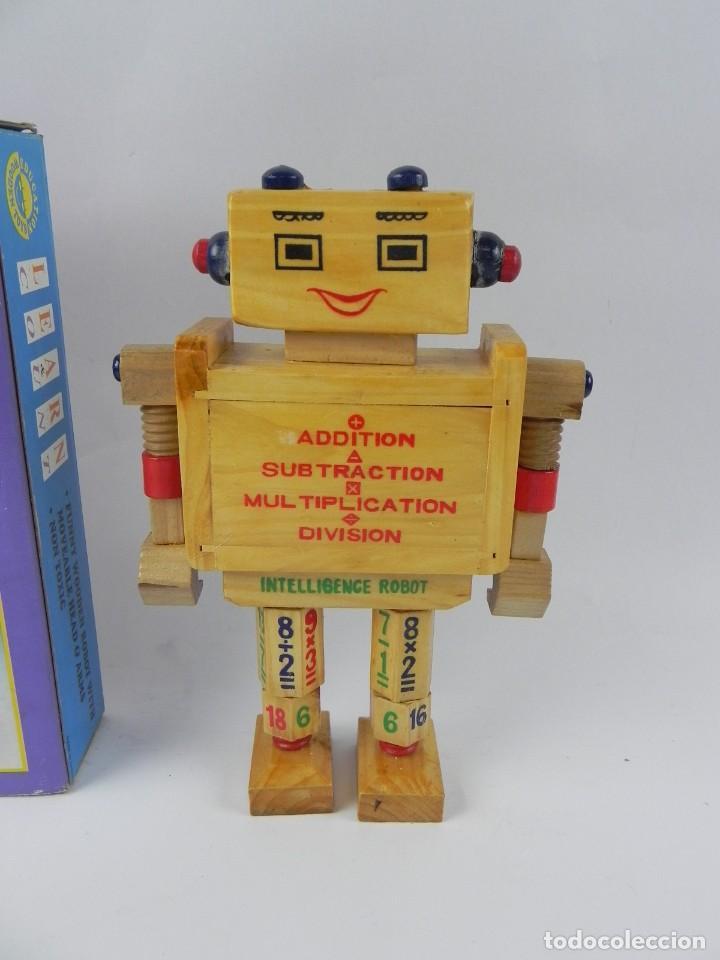 Juegos educativos: ANTIGUO ROBOT LEARN COUNT DE EDUCATION WOODEN TOYS, PARA APRENDER A CONTAR Y A REALIZAR OPERACIONES, - Foto 3 - 127273223