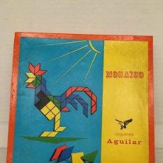 Juegos educativos: JUGUETE MOSAICO DE JUGUETES AGUILAR AÑOS 70. Lote 130278916