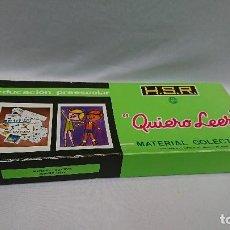 Juegos educativos: QUIERO LEER, AÑOS 70,H.S.R.,JUEGO EDUCATIVO . Lote 129014207