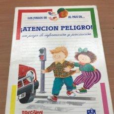 Juegos educativos: JUEGO EDUCATIVO, ATENCION PELIGRO DE PRESCHOOL 1992. Lote 132378038