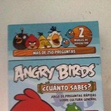 Juegos educativos: JUEGO DE CUANTO SABES? DE LOS ANGRY BIRDS. Lote 133391818