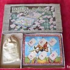 Juegos educativos: ANTIGUA LOTERIA MULTIPLICADORA COMPLETA - ENRIQUE BORRAS - AÑOS 40 50 - MATARO. Lote 133811134