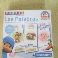 Juegos educativos: POCOYO APRENDE RIENDO. LAS LETRAS, PARA JUGAR CON LETRAS Y PALABRAS. Lote 134224670