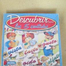 Juegos educativos: DESCUBRIR LOS CINCO SENTIDOS - PRESCHOOL. Lote 134224918