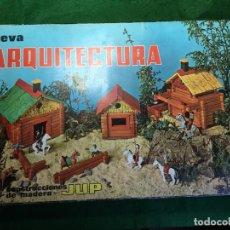 Juegos educativos: NUEVA ARQUITECTURA CONSTRUCCIONES EN MADERA DE JUGUETES JUP. Lote 135451690