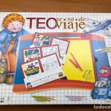 Juegos educativos: JUGUETE TEO SE VA DE VIAJE CEFA, JUEGO DE MESA ANTIGUO, JUGUETE ANTIGUO.. Lote 137677061