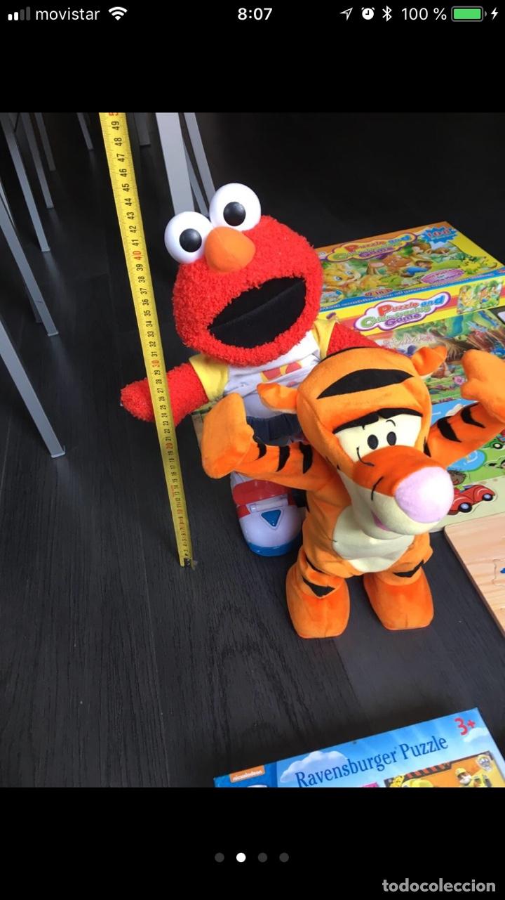 Lote Juguetes Elmo Tiger Encajables De Madera C Buy Old