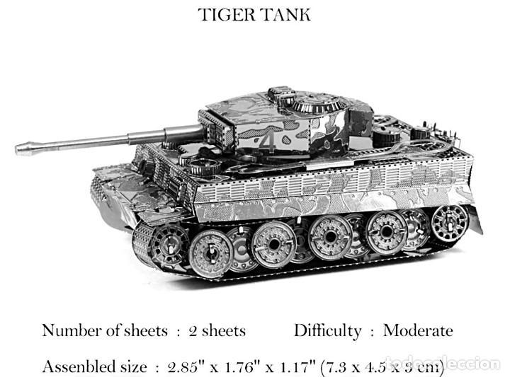2 GUERRA MUNDIAL TIGRE TANQUE MODELO 3D (Juguetes - Juegos - Educativos)