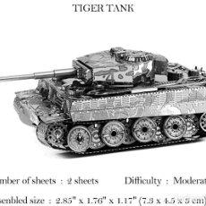 Juegos educativos: 2 GUERRA MUNDIAL TIGRE TANQUE MODELO 3D. Lote 143337714