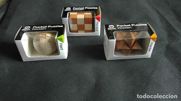 MENSA ROMPECABEZAS DE MADERA PUZZLES X 3 POCKET WOODEN HARDER EN CAJAS ORIGINALES NUEVOS SIN USO (Juguetes - Juegos - Educativos)