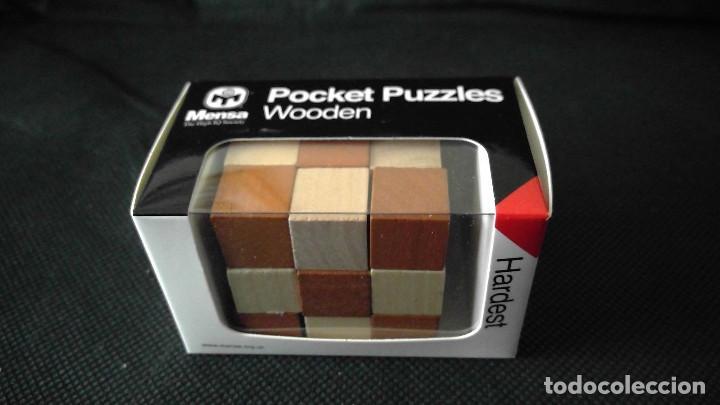 Juegos educativos: MENSA ROMPECABEZAS DE MADERA PUZZLES X 3 POCKET WOODEN HARDER EN CAJAS ORIGINALES NUEVOS SIN USO - Foto 2 - 215077672