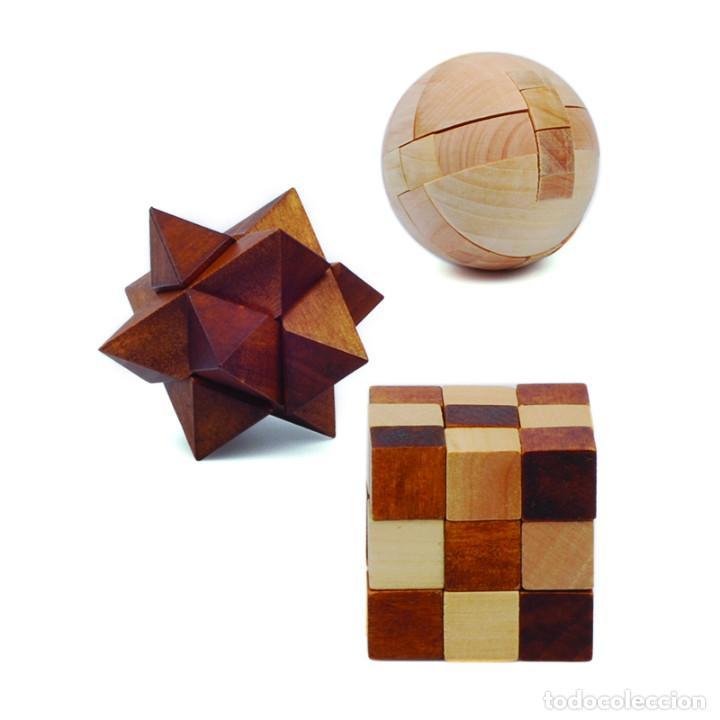 Juegos educativos: MENSA ROMPECABEZAS DE MADERA PUZZLES X 3 POCKET WOODEN HARDER EN CAJAS ORIGINALES NUEVOS SIN USO - Foto 7 - 215077672