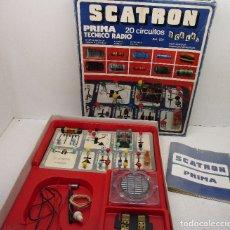 Jogos educativos: JUEGO DE ELECTRÓNICA SCATRON PRIMA TÉCNICO RADIO, 20 CIRCUITOS, JUEGOS SCALA, AÑOS 80. Lote 146035437