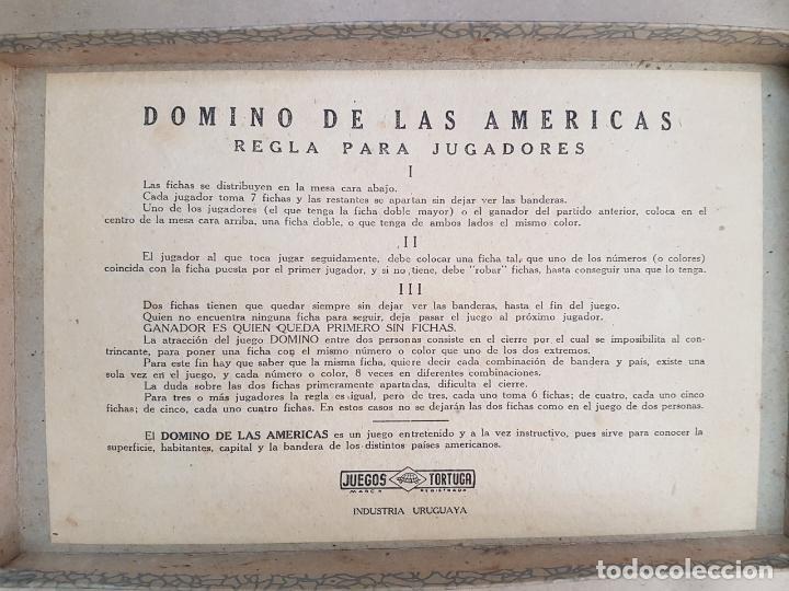 Juegos educativos: DOMINÓ DE LAS AMÉRICAS - Juego de mesa - Años 60 - Completo - Foto 4 - 146584110