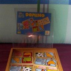 Juegos educativos: DOMINO DE MADERA DJECO-GRANJA-DOBLE FICHA. Lote 147550502
