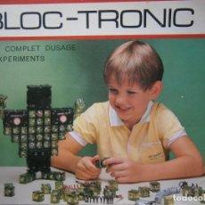Juegos educativos: BLOC TRONIC MANUAL USUARIO JUEGO EDUCATIVO DE ELECTRONICA 160 EXPERIMENTOS. Lote 147642922