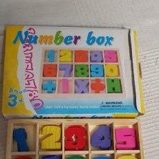 Juegos educativos: CAJA NÚMEROS DE MADERA. Lote 148829810
