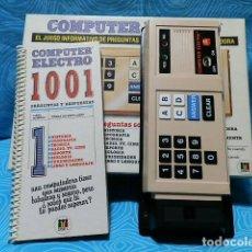 Juegos educativos: COMPUTER ELECTRO DE DISET, PREGUNTAS Y RESPUESTAS. Lote 149144542