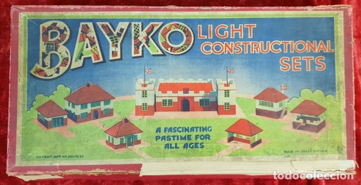 Juegos educativos: BAYKO. JUEGO DE CONSTRUCCIÓN. INGLATERRA. ESCALA 1:43. CIRCA 1930. - Foto 8 - 149801146