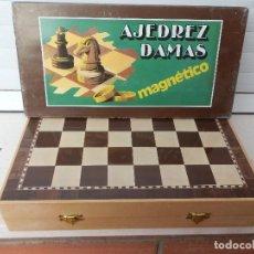 Juegos educativos: JUEGO DE AJEDREZ Y DAMAS MAGNÉTICO. MADE IN SPAIN. RF. 055. A ESTRENAR. . Lote 150573514