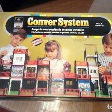 Juegos educativos: JUEGO DE CONSTRUCCIÓN CONVER SYSTEM KIT Nº 2 140 PIEZADS. Lote 150745602