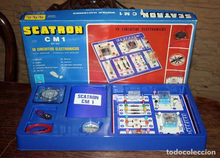 SCATRON CM 1 - FABRICADO POR SCALA - JUEGO DE MONTAJES ELECTRONICOS - 19 CIRCUITOS - NUEVO (Juguetes - Juegos - Educativos)