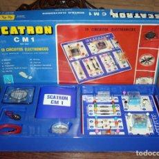 Juegos educativos: SCATRON CM 1 - FABRICADO POR SCALA - JUEGO DE MONTAJES ELECTRONICOS - 19 CIRCUITOS - NUEVO. Lote 152244006