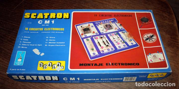 Juegos educativos: SCATRON CM 1 - FABRICADO POR SCALA - JUEGO DE MONTAJES ELECTRONICOS - 19 CIRCUITOS - NUEVO - Foto 5 - 152244006
