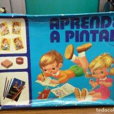 Juegos educativos: APRENDE A PINTAR COLECCION PASATIEMPOS DE EDICIONES SALDAÑA. Lote 155845314
