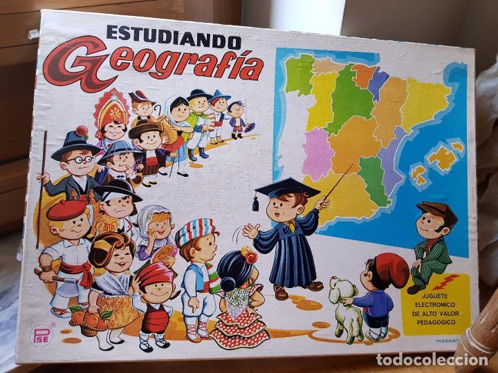 ANTIGUO JUEGO ELECTRONICO ESTUDIANDO GEOGRAFIA DE PLASTICOS SANTA ELENA FUNCIONA AÑOS 70 (Juguetes - Juegos - Educativos)