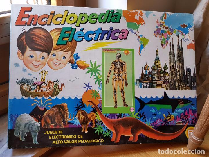 ANTIGUA ENCICLOPEDIA ELECTRICA EL ARCA DE NOE DE PLASTICOS SANTA ELENA AÑOS 70 FUNCIONA (Juguetes - Juegos - Educativos)