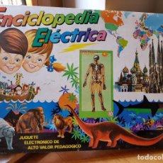 Juegos educativos: ANTIGUA ENCICLOPEDIA ELECTRICA EL ARCA DE NOE DE PLASTICOS SANTA ELENA AÑOS 70 FUNCIONA. Lote 156834230