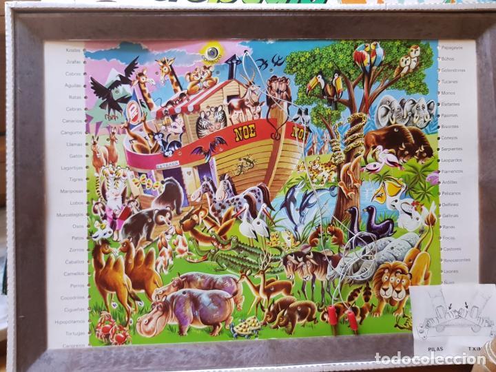 Juegos educativos: ANTIGUA ENCICLOPEDIA ELECTRICA EL ARCA DE NOE DE PLASTICOS SANTA ELENA AÑOS 70 FUNCIONA - Foto 2 - 156834230