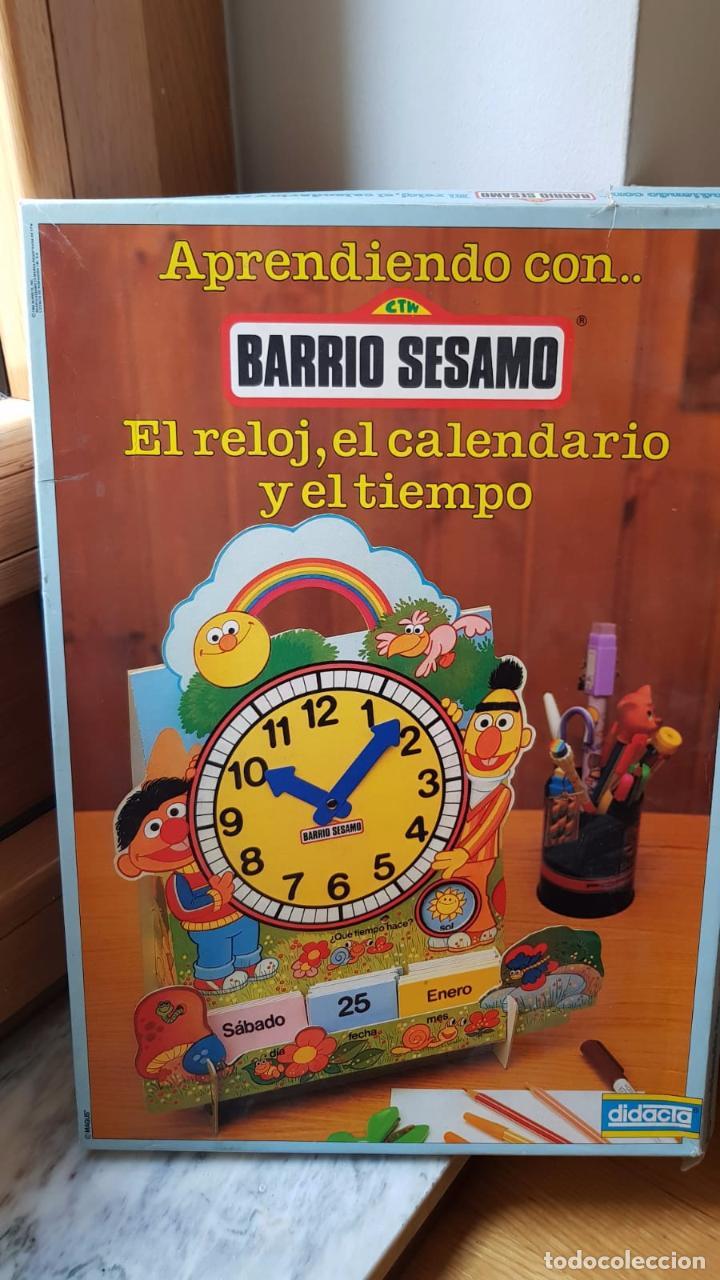 Juegos educativos: ANTIGUO JUEGO DE BARRIO SESAMO APRENDIENDO CON EL RELOJ EL CALENDARIO Y EL TIEMPO - Foto 2 - 161101286