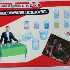 Juegos educativos: CARTEL PUBLICIDAD, JUEGO PAYA QUIMICA BASICA , PINTADO A MANO . ORIGINAL. Lote 164016870