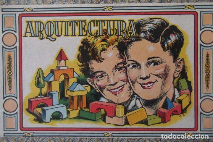 -ARQUITECTURA-JUEGO CONSTRUCION- DE MADERA- CIRCA-1930-1950- (Juguetes - Juegos - Educativos)