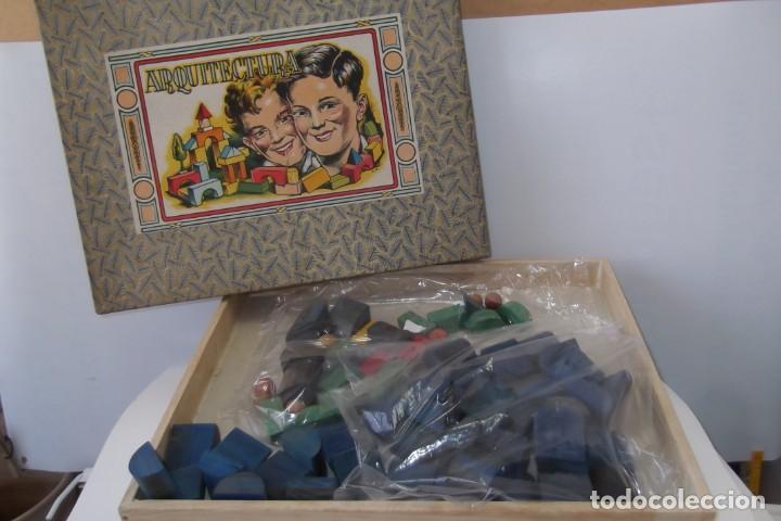 Juegos educativos: -ARQUITECTURA-JUEGO CONSTRUCION- DE MADERA- CIRCA-1930-1950- - Foto 2 - 164098610