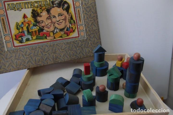 Juegos educativos: -ARQUITECTURA-JUEGO CONSTRUCION- DE MADERA- CIRCA-1930-1950- - Foto 3 - 164098610