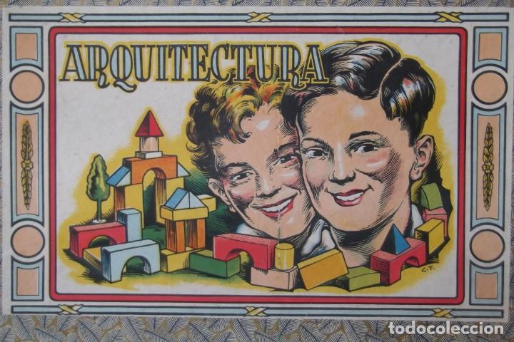Juegos educativos: -ARQUITECTURA-JUEGO CONSTRUCION- DE MADERA- CIRCA-1930-1950- - Foto 7 - 164098610