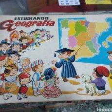 Juegos educativos: ANTIGUO JUEGO DE MESA EDUCATIVO ESTUDIANDO GEOGRAFÍA. Lote 169324264