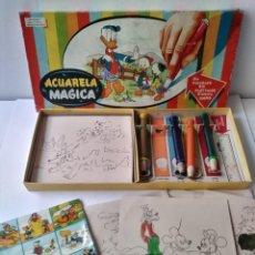 Juegos educativos: ACUARELA MAGICA JUEGO DE COLOREAR DISNEY AÑOS 60. Lote 170063688