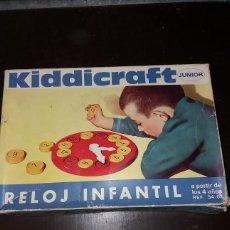 Juegos educativos: RELOJ INFANTIL KIDDIKRAFT, JUEGO EDUCATIVO APRENDIENDO LAS HORAS. AÑOS 70. Lote 171073710