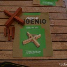 Juegos educativos: JUEGOS DE INGENIO DE LA EDITORIAL RBA,CON SU FASCÍCULO.PUZZLE DEL ASPA. Lote 171684772