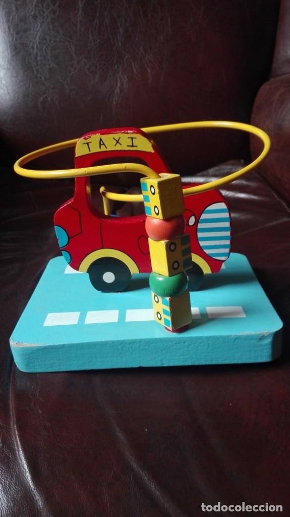 Juegos educativos: Coche taxi con dados movibles de madera - Foto 3 - 173127654