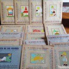 Juegos educativos: JUEGO EL SECRETO DE LOS COLORES SEIX BARRAL LOTE DE 15 (SIN PINTAR NI RECORTAR). Lote 174258383