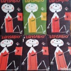 Juegos educativos: LOTE DE 6 SOBRES LAPISABIO CON SUS DIBUJOS PERFORADOS, SIN USO. ED. SEIX Y BARRAL. Lote 174259725