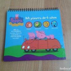 Juegos educativos: MI PIZARRA DE 4 AÑOS -- PEPPA -- NÚMEROS, PERCEPCIÓN, LETRAS, CREATIVIDAD. Lote 175704293
